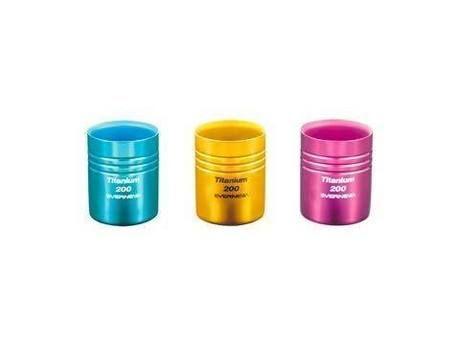 チタン二重カップ 200カラー(ブルー)