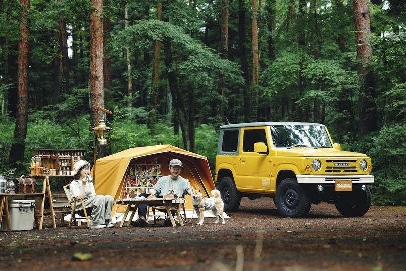 ダムドの「ジムニー ザ・ルーツ」でレトロにキャンプ!ビンテージテントのパジャマムーンと作った世界観とは?