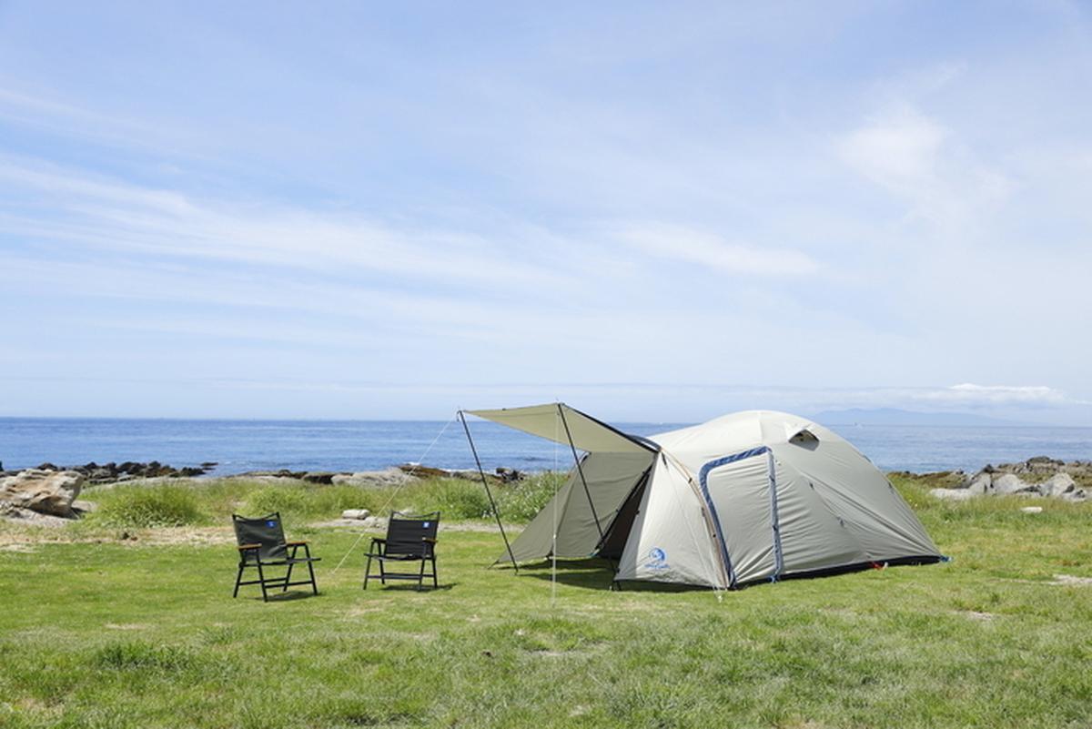 ホールアースのテントとチェア