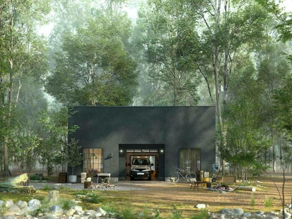 ゴードンミラー×Doliveがアウトドア好き向けにガレージハウスを発売。「ガレージの中に住宅」という新発想!