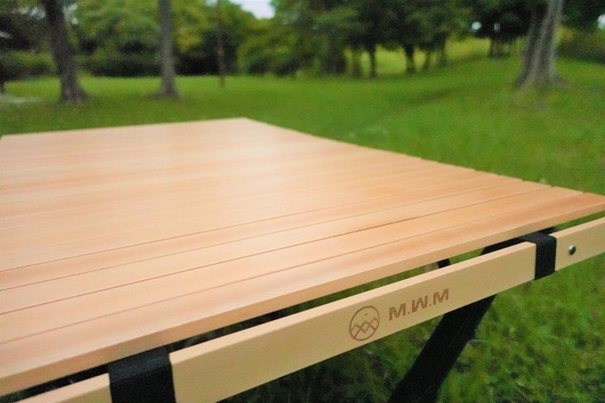 M.W.Mがファミリーキャンプにこだわったテーブルをリリース!組立簡単、収納場所もとらない形状とは?