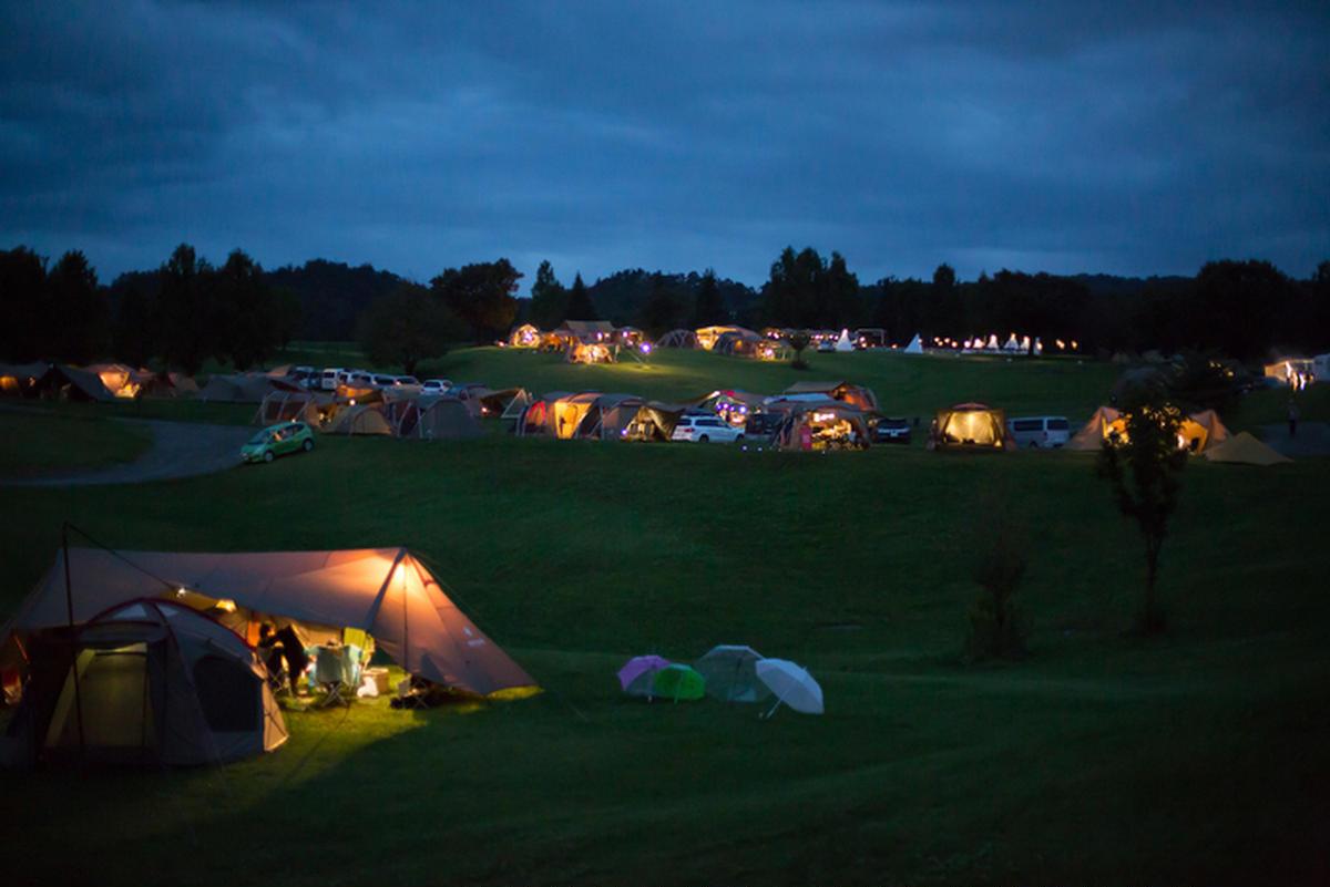 スノーピークのキャンプフィールド