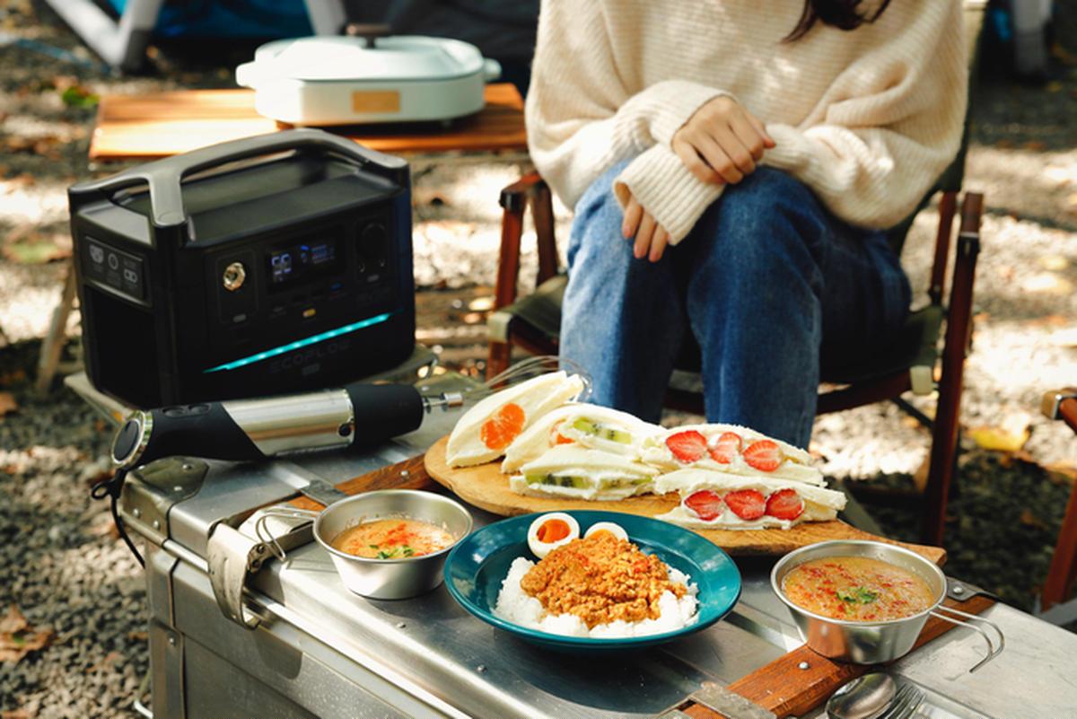 【時短レシピ】20分カレーに5分スープ、10分フルーツサンド!?「ポータブル電源×ミキサー」でEキャンプ